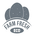 eco farm fresh logo simple style vector image vector image