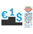 Euro Dollar Competition Icon With 2017 Year Bonus vector image vector image