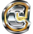 Fancy font Letter c vector image vector image