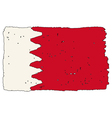 Flag of Bahrain handmade vector image