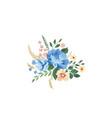 floral frame pattern flower bouquet background vector image vector image