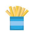french fries fast fodd vector image vector image