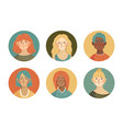 girls avatar collection vector image