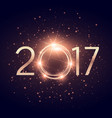glowing 2017 text with glitter shiny effect vector image vector image