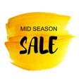 golden sale tag vector image