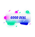 good deal in design banner template for vector image