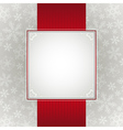 grey christmas background with snowflakes vector image vector image