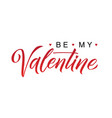 happy valentines day black and red lettering white vector image vector image