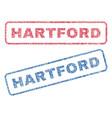 hartford textile stamps vector image vector image