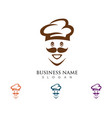 hat chef logo template vector image