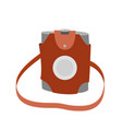 hiking flask icon vector image