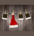 Holiday Christmas background with photos and a vector image vector image
