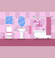 interior of the bathroom for a glamorous girl in vector image