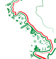 italian map whit symbol vector image vector image