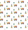 Kids toys Pattern vector image vector image