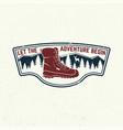 let adventure begin slogan summer camp vector image vector image