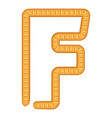 letter f bread icon cartoon style vector image