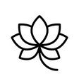 lotus chinese new year related line style icon vector image vector image