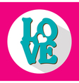Love flat icon with long shadow vector image