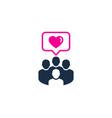 love social network logo icon design vector image vector image