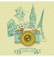 Lovely card - vintage camera vector | Price: 1 Credit (USD $1)