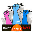 may 1st labor day vector image