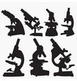 microscope silhouettes vector image vector image