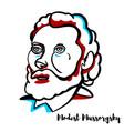 modest mussorgsky portrait vector image vector image