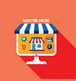 online shopping and e-commerce concept successful vector image