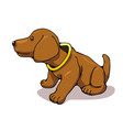 popular german dachshund bobblehead vector image vector image