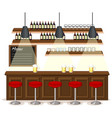 pub and restaurant background scene vector image