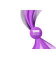 purple wave abstract background vector image vector image