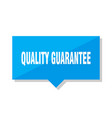 quality guarantee price tag vector image vector image