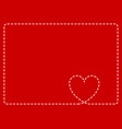 red frame with heart background card vector image