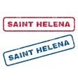 Saint Helena Rubber Stamps vector image vector image