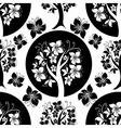 seamless tree pattern vector image vector image