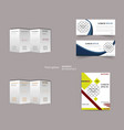 set of abstract modern flyers and brochures vector image
