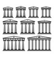 set of ancient greek architecture with columns vector image