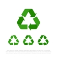 Set of four flat isolated recycle symbols vector image vector image