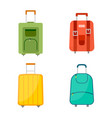 set of four wheeled travel bags with luggage vector image vector image