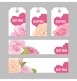 Set of price tags and banners for Valentine s day vector image vector image