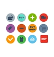 Shop buttons set vector image vector image