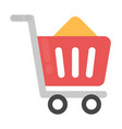 shopping cart flat icon vector image vector image