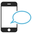 Smartphone Message Balloon Eps Icon vector image vector image