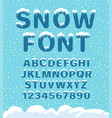 snow winter font vector image vector image