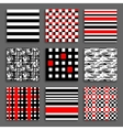 Striped and Chequered Patterns Set vector image vector image