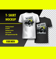 t-shirt template fully editable with vintage off vector image vector image