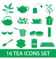 tea icons set eps10 vector image
