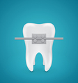 Tooth with staples vector image vector image