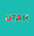 utah concept word art vector image